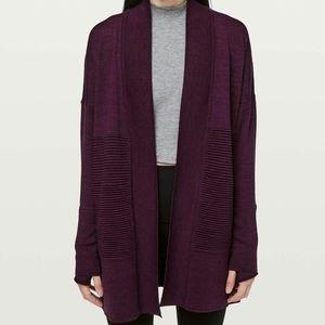LULULEMON | Sit In Lotus Wrap Sweater Plum Size 6